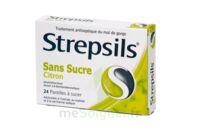 Strepsils Citron Sans Sucre, Pastille édulcorée à L'isomalt, Au Maltitol Et à La Saccharine Sodique à Bordeaux