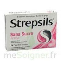 Strepsils Fraise Sans Sucre, Pastille édulcorée à L'isomalt, Au Maltitol Et à La Saccharine Sodique à Bordeaux