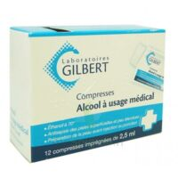 Alcool A Usage Medical Gilbert 2,5 Ml Compr Imprégnée 12sach à Bordeaux