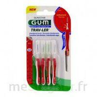 Gum Trav - Ler, 0,8 Mm, Manche Rouge , Blister 4 à Bordeaux