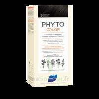 Phytocolor Kit Coloration Permanente 3 Châtain Foncé à Bordeaux