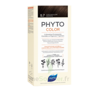 Phytocolor Kit Coloration Permanente 5.7 Châtain Clair Marron à Bordeaux